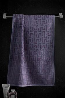 Navy Geo Towel