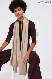 Accessorize Gold Plain Woven Scarf