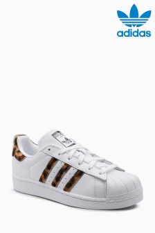 adidas Originals Haven White Faux Fur Superstar
