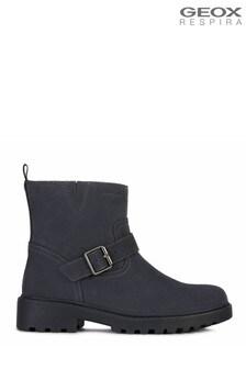Geox Junior Girl's Casey Dark Grey Boots