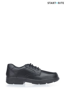 Start-Rite Isaac Black Wide Fit Leather Shoes