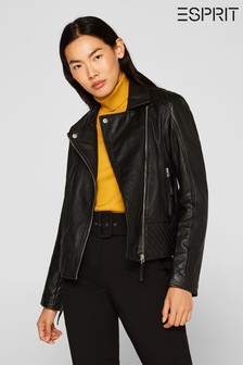 Esprit Black Leather Jacket