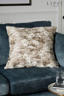 Lipsy Metallic Abstract Jacquard Cushion