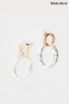 White Stuff Metallic Metal Link Earrings