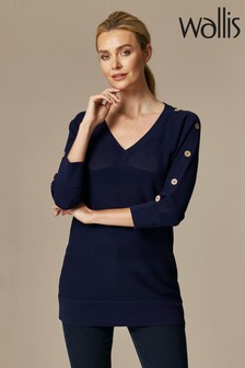 Wallis Ink V-Neck Jumper