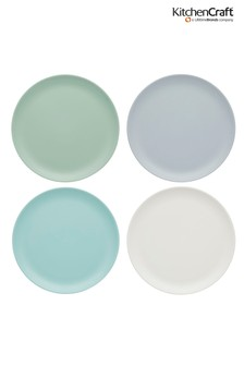 Set of 4 Kitchencraft Colourworks Classic Melamine Side Plates