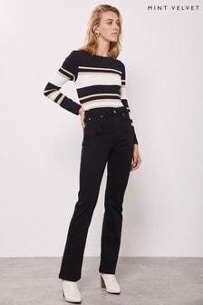 Mint Velvet Black Idaho Bootleg Jeans