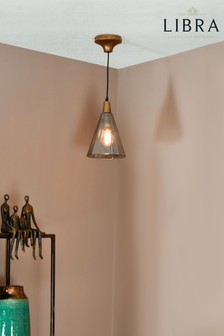 Libra Odessa Small Faceted Cone Pendant Light