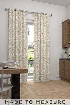 Leya Coral Natural Made To Measure Curtains