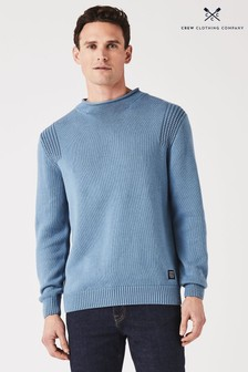 Crew Clothing Company Blue Roll Neck Jumper