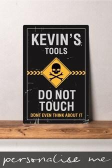 Personalised Tools Metal Wall Art/Metal Sign