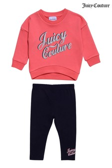 Juicy Couture Crew Sweater And Leggings Set