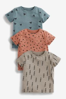 3 Pack All Over Print T-Shirts (3mths-7yrs)