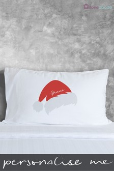 Personalised Santa Hat Pillowcases by Loveabode