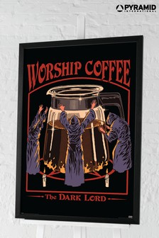 Pyramid Steven Rhodes Worship Coffee Framed Poster