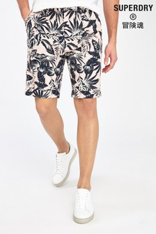 Superdry Pink Palm Chino Shorts