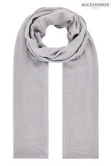 Accessorize Silver All Over Metallic Scarf