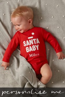 Personalised Santa Baby Sleepsuit