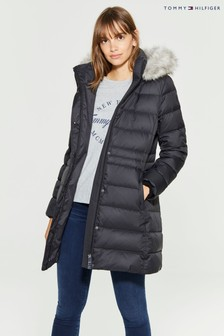 Tommy Hilfiger Black New Tyra Down Coat