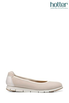 Hotter Cream Slip-On Pump Shoes