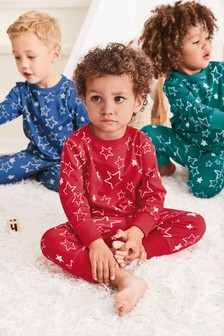 3 Pack Bright Star Print Pyjamas (9mths-8yrs)