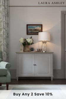 Hanover Pale French Grey 2 Door Sideboard by Laura Ashley