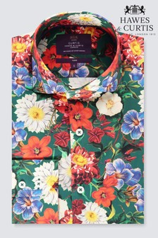 Hawes & Curtis Floral Slim Fit Shirt