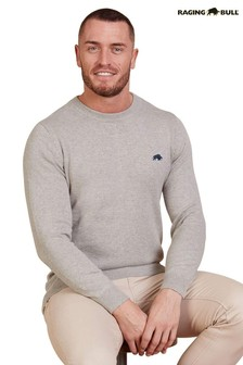 Raging Bull Cotton/Cashmere Crew Neck Knit Jumper