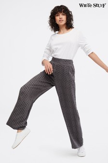White Stuff Grey Filey Wide Leg Trousers