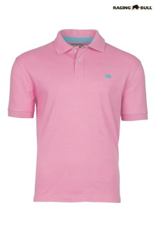 Raging Bull Pink New Signature Poloshirt