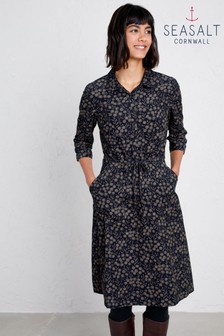 Seasalt Petite Clove Hitch Tansies Dark Night Dress