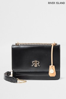 River Island Black Medium Satchel
