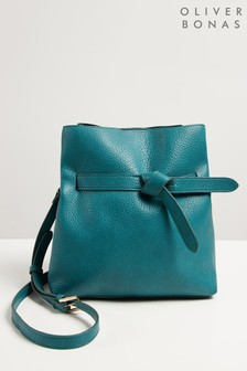 Oliver Bonas Blue Lillie Detail Cross Body Bag