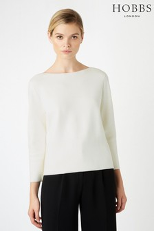 Hobbs White Logan Sweater