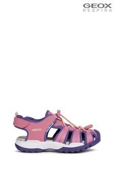 Geox Girl's Borealis Pink Sandals