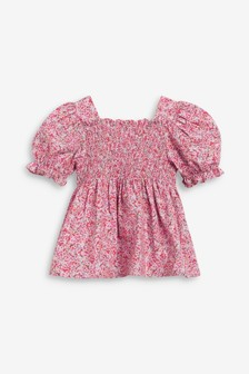 Printed Puff Sleeve Blouse (3mths-7yrs)