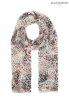Accessorize Nude Abstract Spot Stole Scarf