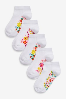 5 Pack Footbed Trainer Socks