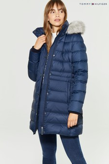 Tommy Hilfiger Blue New Tyra Down Coat
