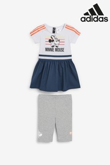 adidas Infant White Minnie Mouse™ Dress And Legging Set