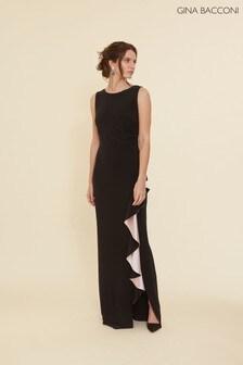 Gina Bacconi Lockie Jersey Frill Maxi Dress