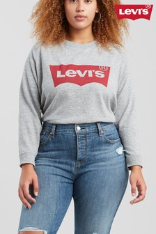 Levi's® Plus Grey Batwing Relaxed Graphic Crew Sweat Top
