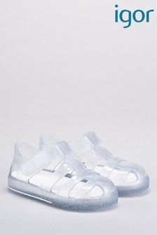 Igor Clear Star Glitter Transparent Sandals