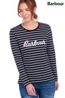 Barbour® Coastal Navy Stripe Keilder Long Sleeve T-Shirt