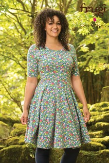 Frugi GOTS Organic Skater Dress In A Floral Print