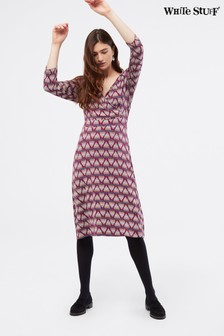 White Stuff Purple Florence Wrap Dress