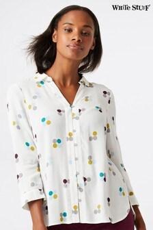 White Stuff White Periwinkle Shirt