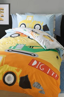 Dig It Duvet Cover and Pillowcase Set