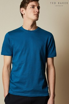חולצת טי כחולה Twopee של Ted Baker מבד בעל מרקם