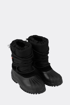 Kids Black Snow Boots